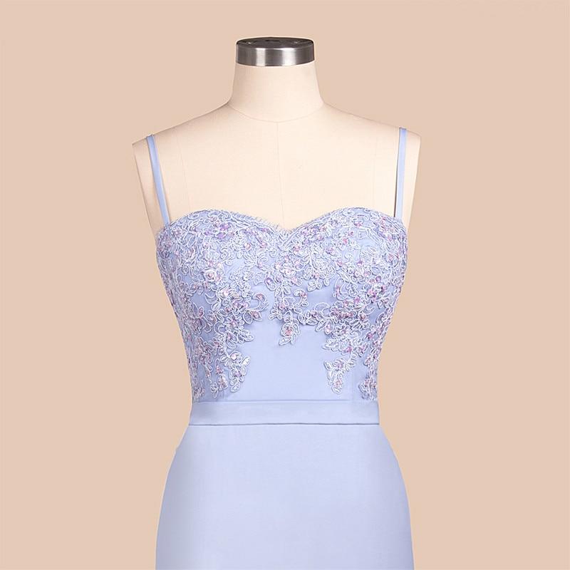Bridesmaid Dresses Backless Mermaid Lilac Lace Straps Beaded Appliques Wedding Party Robe De Soiree Demoiselle Vestido Longo