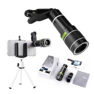 1pcs 20x Zoom Mobile Phone Lens 360 Degrees Wide Angle Len Camera Kits For Samsung Xiaomi Huawei Clip Camera Lens