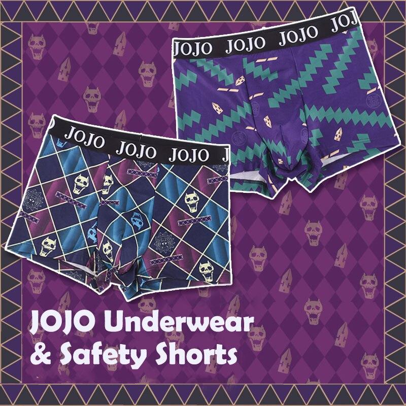 Anime Cosplay JoJo 's Bizarre Adventure Funny Underwear Underpants Men Otaku Boxers Briefs Panties Women Safety Shorts Gift