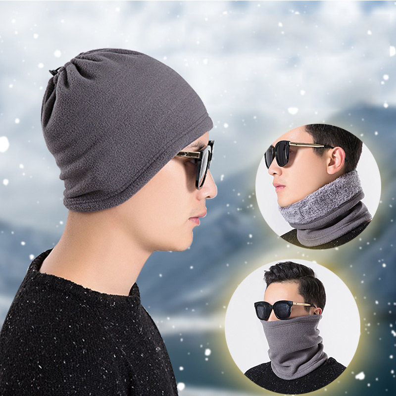 Fleece Unisex Neckerchief Solid Color Windproof Multifunction Thickened Bib Scarf Neck Warmer Ring
