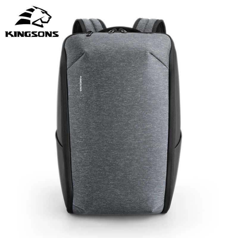 Kingsons משולב גברים 15 אינץ מחשב נייד תרמילי אופנה עמיד למים נסיעות תרמיל אנטי גנב זכר המוצ 'ילה בית ספר שקיות חמה