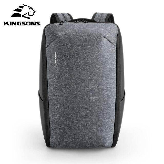Kingsons wielofunkcyjny mężczyźni 15 cal plecaki na laptopa moda wodoodporny plecak podróżny Anti-theft mężczyzna Mochila torby szkolne gorąca