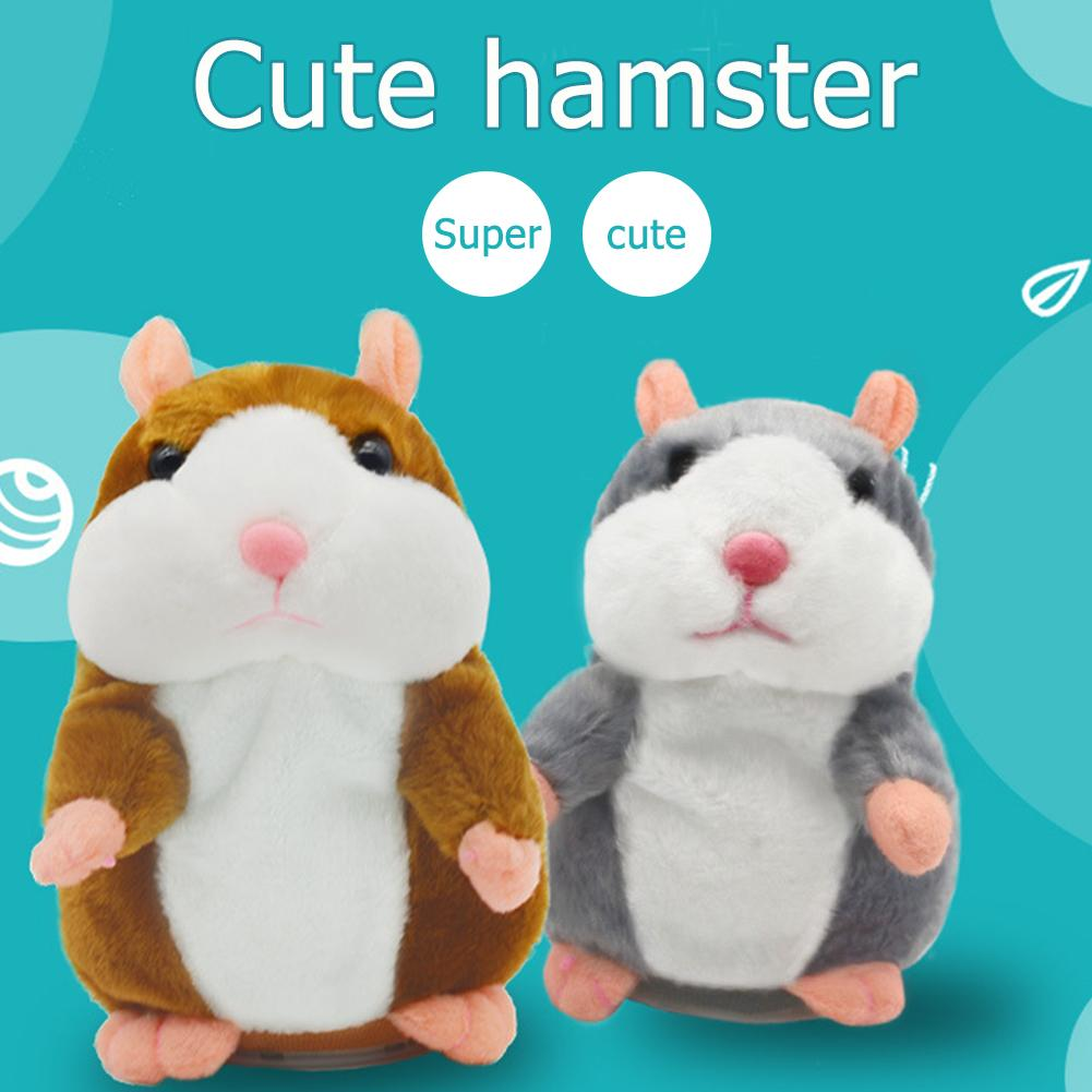 Cute Talking Hamster Plush Animal Doll Sound Record Repeat Educational Toys