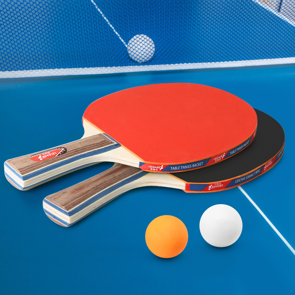 Купить с кэшбэком Table Tennis 2 Player Set 2 Table Tennis Bats Rackets with 3 Ping Pong Balls for School Home Table Tennis Sport Ping Pong Ball
