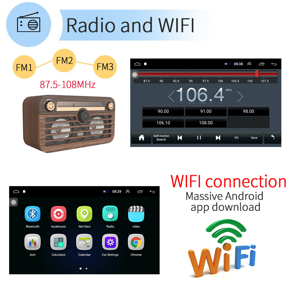 AMPrime 2din автомобильное радио 9