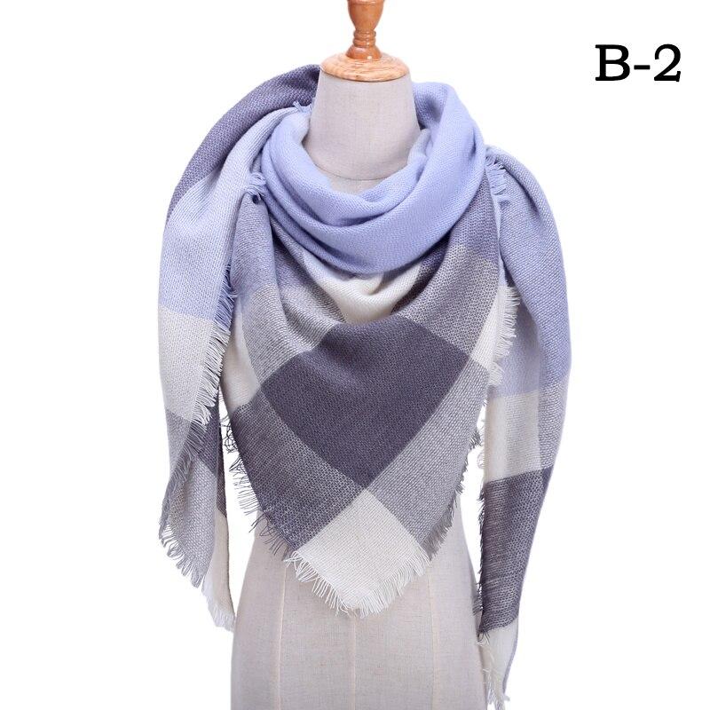 Женский зимний шарф в ретро стиле, кашемировые вязаные пашмины шали, женские мягкие треугольные шарфы, бандана, теплое одеяло, новинка - Цвет: bb2