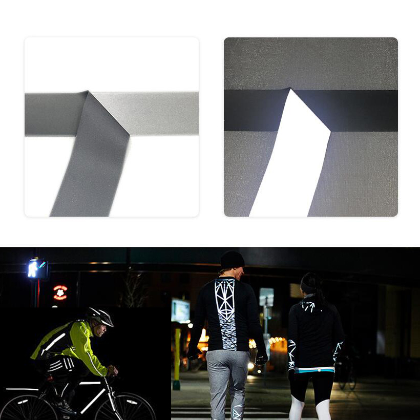 High Visibility Bright Silver  Reflective Heat Transfer Film Safety Warning Reflective Fabric Material Tape Ironing On