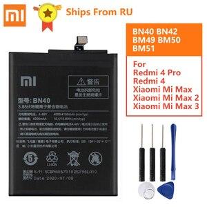 Image 1 - オリジナルバッテリーBN40 BN42 BM49 BM50 BM51 xiaomi redmi 4プロプライム3グラムram 32グラムrom版redrice 4 Redmi4 mi最大Max2 Max3