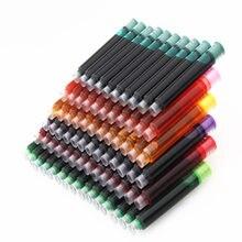 Wysokiej jakości 10 sztuk kolorowy atrament dostaw wieczne pióro kartridż napełniający biuro szkolne artykuły piśmienne