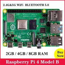 Raspberry original pi 4 modelo b 2gb/4gb/8gb ram, bcm2711 quad core Cortex-A72 braço v8 1.5ghz 2.4/5.0 ghz wifi bluetooth 5.0 rpi 4b