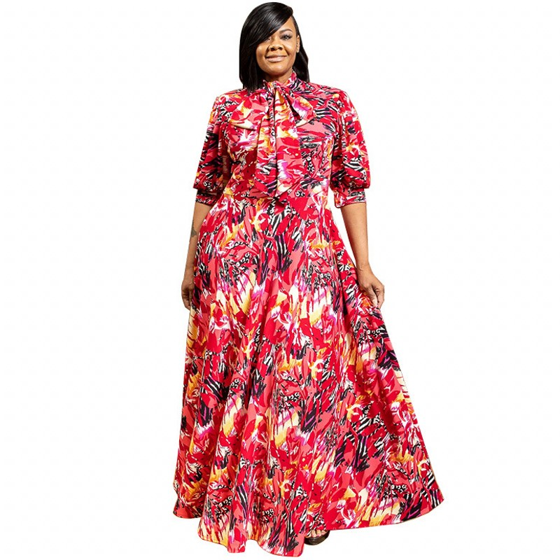 African Dresses For Women Robe Africaine 2020 African Clothing Dashiki Fashion Print Cloth Long Maxi Dress Africa Clothing