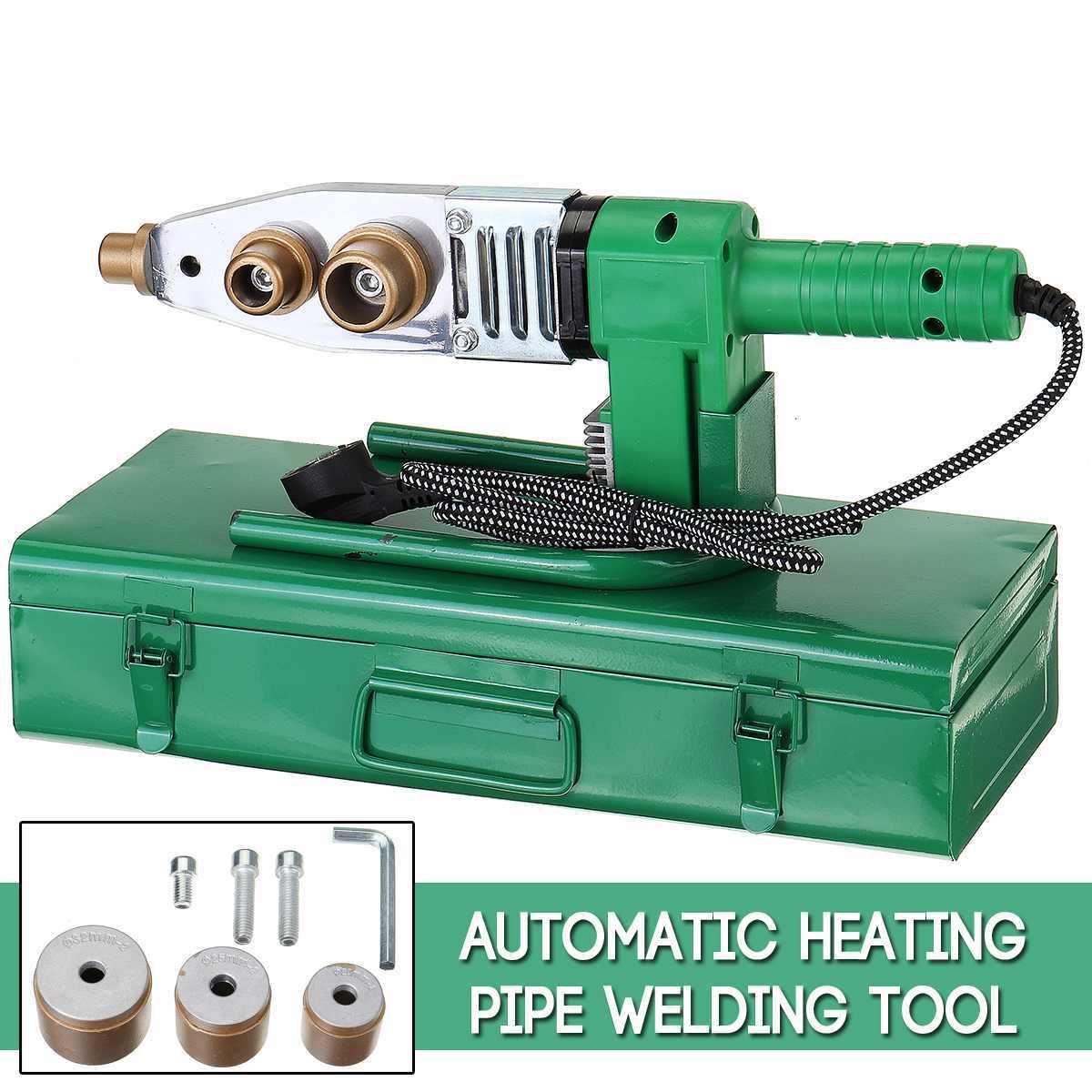 Máquina de soldadura de tubos eléctricos, juego de cabezales de herramientas de calefacción para PPR PB, tubo de plástico PE PPR, soldador de termofusión, Control de temperatura