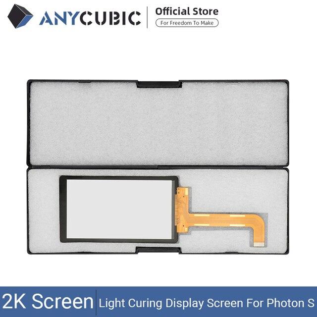 ANYCUBIC فوتون S 2K LCD ضوء علاج وحدة شاشة عرض 2560x1440 أجزاء أطقم Accecceries سطوع عالية