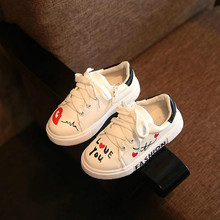 Buy 2019 Spring Autumn Child Sport Shoes Sneakers Cute PU Leather Boys Girls Sneakers Kids Shoes 1#15/15D50 directly from merchant!
