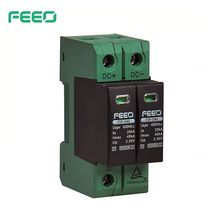 FEEO DC SPD  2P 600V 800V 20KA~40KA TUV & CE Din Rail Solar Outdoor Power Protection Protective Device Surge Protector