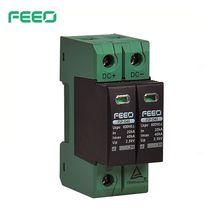 FEEO dispositivo de protección contra sobretensiones, DC SPD 2P 600V 800V 20KA ~ 40KA TUV & CE Din Rail, dispositivo de protección Solar para exteriores