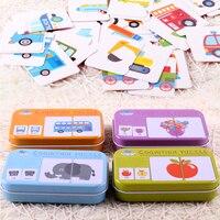 赤ちゃんキンダーkognitionパズルspielzeug kleinkind eisenボックスkarten passende熱弁kognitiven karte vehicl obst一層lebenセットpaa