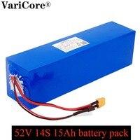 Varicore e-bike bateria 52v 15ah 18650 li-ion bateria kit de conversão de bicicleta bafang 1000w + bms proteção de alta potência