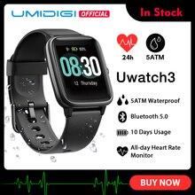 UMIDIGI Uwatch3 Smart Watch Men Women 5ATM Waterproof Fitnes