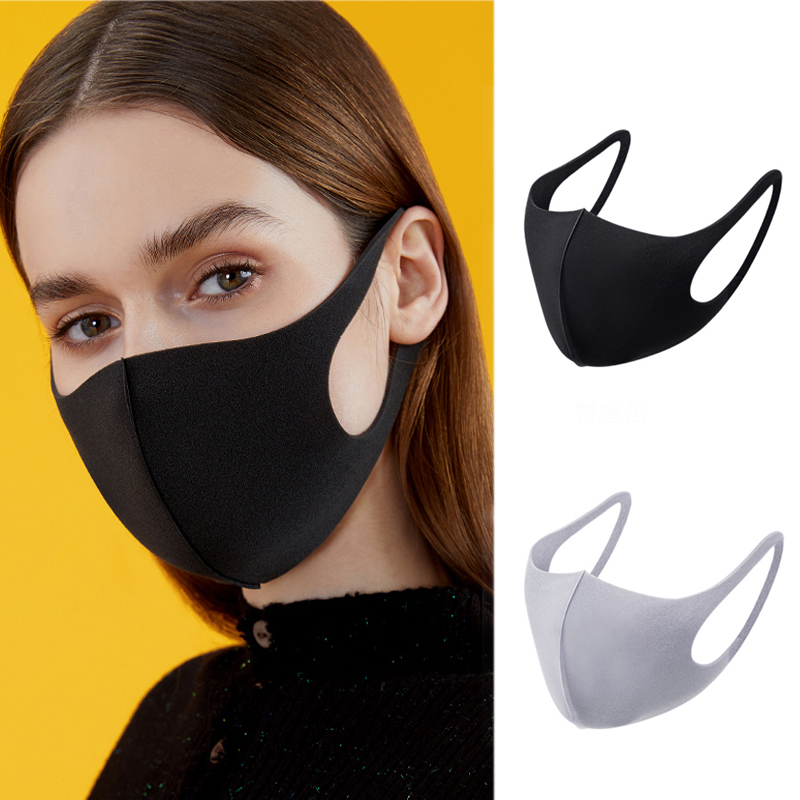 Washable Mask Black V Anti Dust Mask Women Men Breathable Face Masks Fashion Sun Protection Pollen Wind Proof Mouth-muff Cover