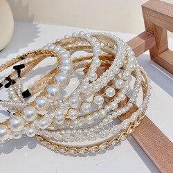[Xwen] 2020 New Pearl Chain Simple Women Hairpin Girls Hairband French Haircut Bundle Headband Fashion Accessories OH168809