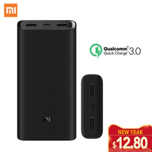 Xiaomi mi Power Bank 3 puertos de 20000 mAh salida PD cargador rápido Paquete de batería externa Xiaomi 20000 mAh Powerbank