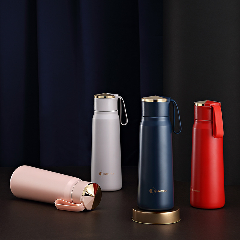 Soffe Ins Popular Fashion Thermos Bottle 380ml Food Grade Stainless Steel Portable Good Seal Home&travelling Vacuum Flasks