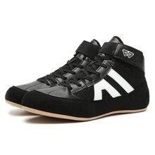Boxing-Sneakers Trainer Shoes Flighting Girls White Sport Boys Kids Children Gym Black