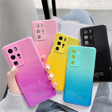 Gradient Color Soft Silicone Case For Huawei P40 P40 Pro P30 P30 Pro Huawei Mate 30 Mate 30 Pro Cover Case Fundas Capa hit color frosted case for huawei p40 pro mate30 mate 30 pro p30 pro luxury shockproof case for honor v30 pro soft silicone new