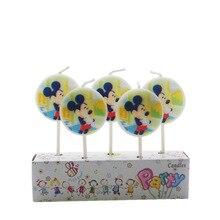 5 шт./партия, вечерние товары с Микки Маусом для детей, свечи на день рождения, вечерние украшения, набор для дня рождения, Свадебные свечи для торта