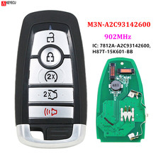 FCC ID: M3N A2C93142600 5 Button Smart Remote Key FSK 902mhz ID49 for Ford Edge Fusion 2017 2018 Expedition Explorer 2018 2019
