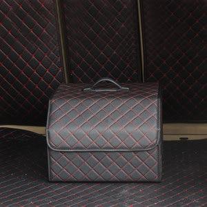 Image 5 - سيارة الجذع المنظم متعددة الأغراض بولي Leather الجلود للطي سيارة جذع صندوق تخزين أكياس تستيفها tidie لسيارة SUV