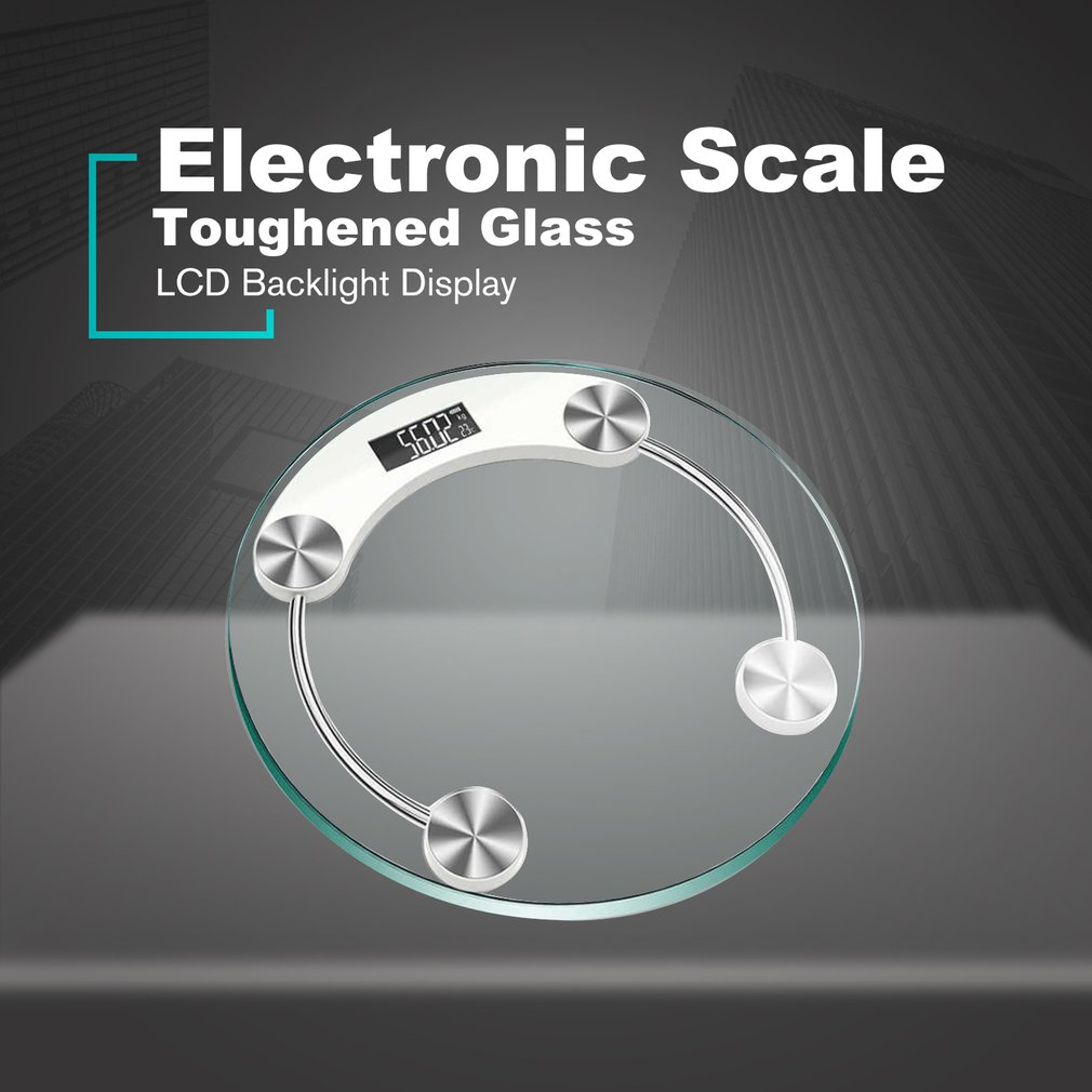 Electronic Weighing Scale Household Body Bathroom Scale LCD Tempered Glass Backlight Digital Display Weight Scale Sale