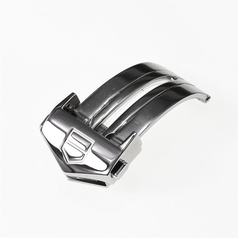 18 мм серебряная застежка из нержавеющей стали для часов TAG Heuer AQUARACER CALIBRE 5, силиконовый резиновый ремешок, пряжка, кнопка, аксессуары - Цвет: silver