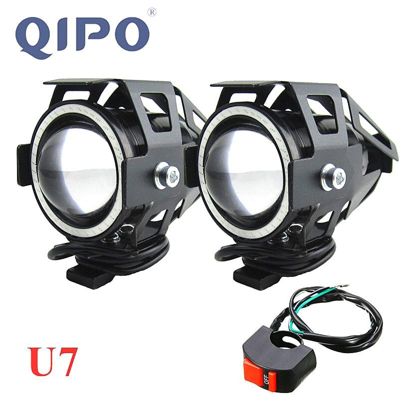 Светодиодный светильник QIPO для мотоцикла U7, 12 В, для вождения, для противотуманных фар, для Honda|light lamp|light motolight fog | АлиЭкспресс