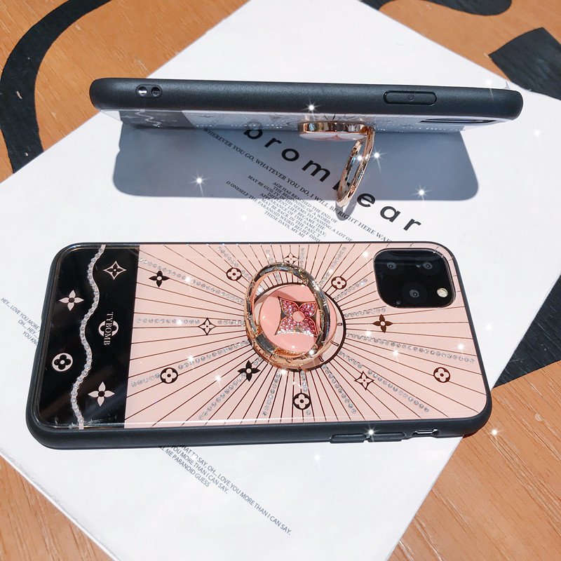 Phone - For Iphone 11 Case Luxury Diamond With Ring Stand Gold protective back cover case for iphone 11 Pro Max iphone11 11Pro