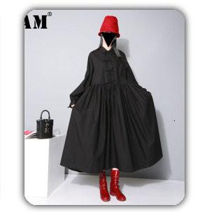 [EAM] 2019 Spring Plus Size Long Shirts Women Blouses Long-sleeve White Loose Tops Black White Cotton Shirt Big Size C006111 27