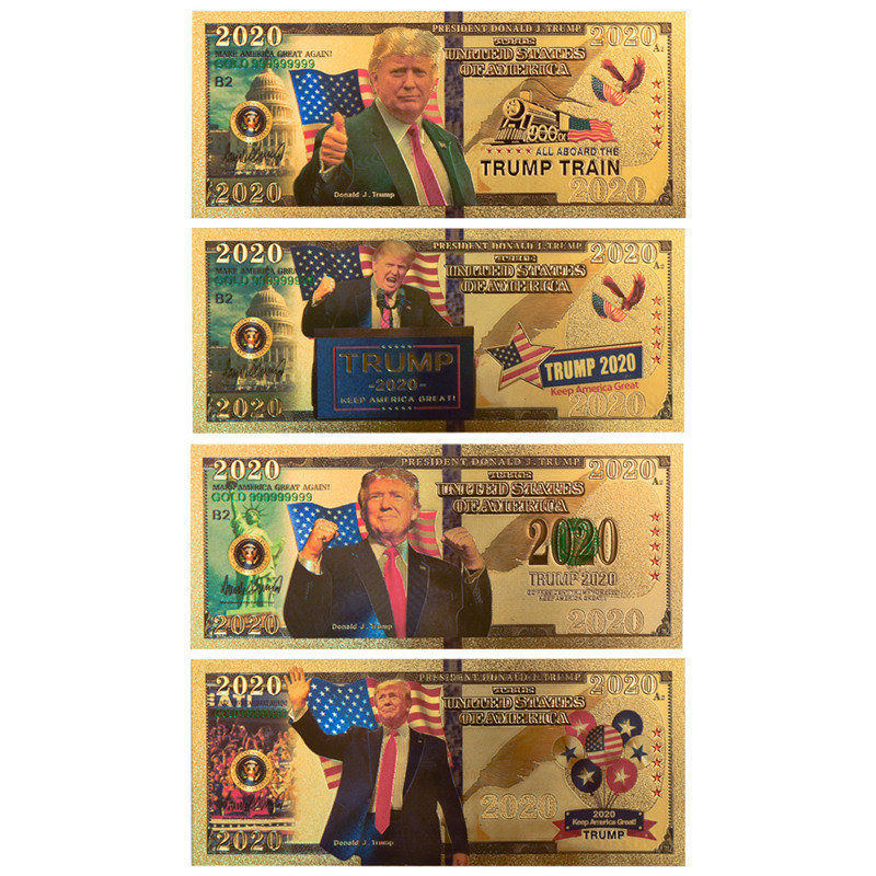 Donald Trump Commemorative Coin President Banknote Non-currency Gold Banknotes Prop Money America Bank Notes Personalized Gift image