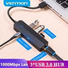 Vention usb ethernet adaptador usb 3.0 2.0 para rj45 gigabit ethernet com micro porta do carregador usb para o disco rígido de rede ethernet hub