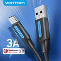 Vention USB Type C кабель для Huawei Samsung 3A Быстрая зарядка 3,0 USB C Быстрая зарядка провод для Xiaomi 10 Pro USB Type-C кабель для передачи данных