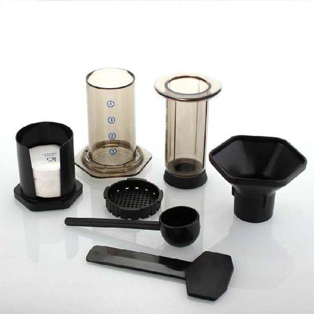 OOTDTY New Filter Glass Espresso Coffee Maker Portable Cafe French Press CafeCoffee Pot For AeroPress Machine 2