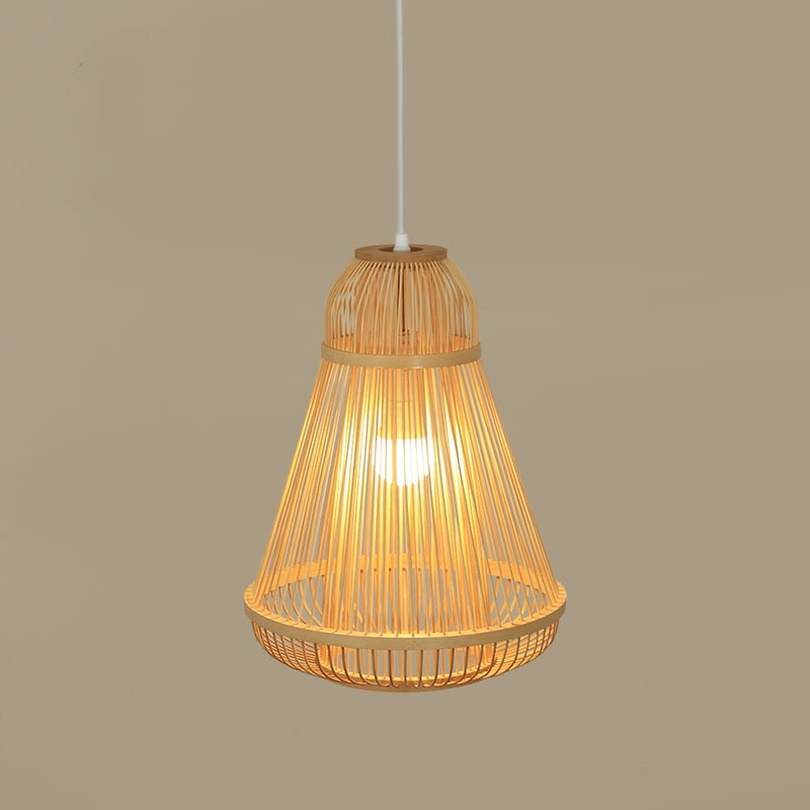 Japanese Style Pendant Lights Hanging Lamp Tatami Tea Room Bamboo Lighting Asia Living Room Bedroom Inn Lamp Light Fixtures E27