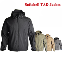 TAD Tactical Sharkskin DINTEX Softshell  Jacket Hunting Clothes Waterproof Hiking Camping Sport Windproof Outerwear