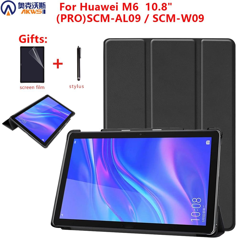 Чехол для планшета Huawei Mediapad M6 10,8 дюйма, чехол для Huawei 10,8 PRO SCM-AL09/W09, чехол-книжка с подставкой, противоударный чехол