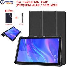 Funda a prueba de golpes para Huawei Mediapad M6 10,8, funda de tableta para Huawei 10,8 PRO SCM AL09/W09 Folio Stand Sleep Cover