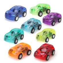 Car-Figure-Toys Vehicle Mini Gift for Kids Toddlers Birthday-Play Plastic Pull-Back Transparent