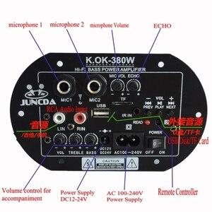 Image 3 - KOK 380 ac 220v 12v 24vデジタルbluetoothアンプボードサブウーファーデュアルマイクカラオケアンプ車のホームamplificadorアンプ