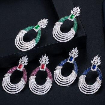Long Round Drop Luxury Earrings