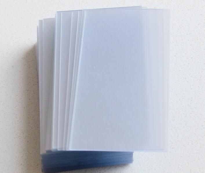 100/200/300/400/500pcs 0.2mm Thin Translucent Slight Matte PVC Acetate Sheet Plain Blank Business Card Size 50*90mm