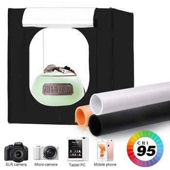 Photo Studio stół do fotografowania miękkich pudełek 50x50CM przenośny składany ściemnialny profesjonalne oświetlenie fotograficzne zestaw namiotowy z tłem tanie i dobre opinie CN (pochodzenie) 55x17x12 2 72KG Pakiet 2 Nylon Cloth SH-SYP-01-50